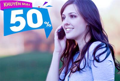 mobifone khuyến mãi 50% thẻ nạp đầu tiên trong năm 2017