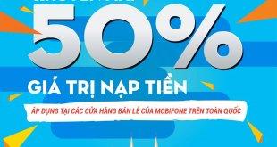 khuyến mãi 50% tại các cửa hàng bán lẻ mobifone