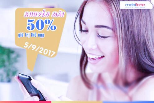 Khuyến mãi mobifone ngày 05/09/2017