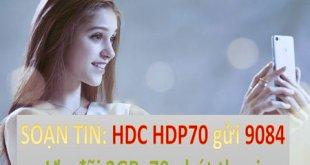 Đăng ký gói cước 4G HDP70 MobiFone được 2GB Data và 70 phút thoại
