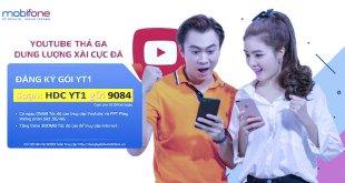 Đăng ký gói cước YT1 Youtube MobiFone