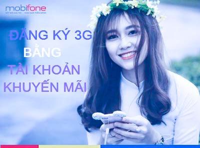 Đăng ký gói cước 4G MobiFone bằng tài khoản khuyến mãi
