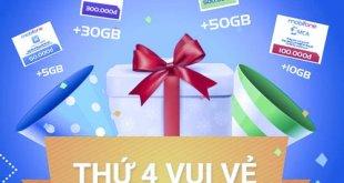 Nạp thẻ khuyến mãi thứ 4 hàng tuần của nhà mạng MobiFone