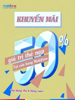 Khuyến mãi nạp thẻ thứ 6 hàng tuần MobiFone