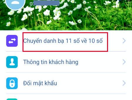 Chuyển đổi danh bạn từ 11 số sang 10 số từ ứng dụng Viettel